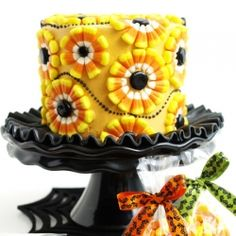 Candy corn cake for Halloween!