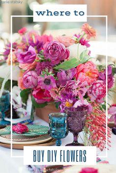 Where to Buy Bulk wholesale diy flowers! www.fabulousflorals.com The DIY Bride's #1 resource for DIY wedding flowers #weddingdecor #diywedding #diyflowers #weddingflowers #bouquet