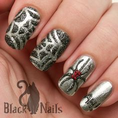 Revlon chalkboard nail art review fromwrappedupinrainbows 3 d sparkly spider halloween nail art i created these with the awesome sticky prinsesfo Gallery