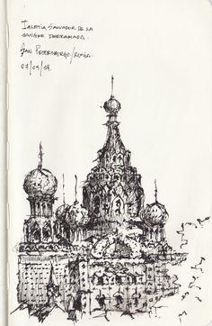 Croquis - San Petersburgo - por Facundo Alvarez