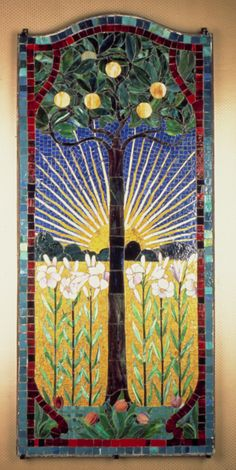 stained glass ~ Arts & Crafts Movement