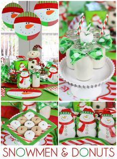 Snowmen and Donuts Party: Holiday Tips + Inspiration! #christmas #holidayentertaining