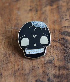 Black Skull Lapel Pin by crywolf on Etsy