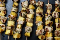 Cilantro-Lime Chicken and Pineapple Skewers