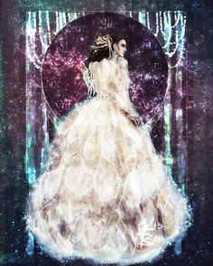 Glitter Art Print Labyrinth Between the Stars by Doodleholic, $15.00