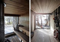 Modern Saunas, Greece House, Sauna House, Outdoor Sauna, Wood Interior Design, Spa Rooms, Relaxation Room, Garage Design, Home Spa