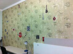 Rock and Roll - Papel de parede + adesivos