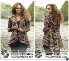 DIY Crochet Circular Vest Sweater Jacket Free Pattern with Video - fall forest