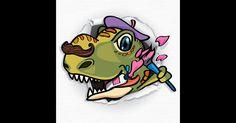 Swipea Måla & Spela : Dinosaurier - måla och färglägg #skapa