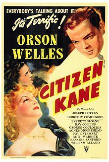 Citizen Kane is a 1941 American drama film, directed by and starring Orson Welles. It was released by RKO Pictures, and was Welles's first feature film. The film was nominated for Academy Awards in nine categories Old Movie Posters, Classic Movie Posters, Cinema Posters, Movie Poster Art, Classic Movies, Vintage Posters, Old Movies, Vintage Movies, Film Noir