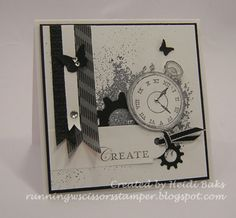 Clockworks in black and white. rhinestone  at clock hands