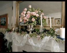 center arrangement with a few candles