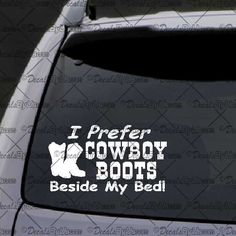 Cowboy butts drive me nuts vinyl decal//sticker saying country redneck girlie