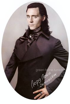 Tom Hiddleston, Lord Loki, in Victorian costume. Absolute perfection.