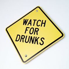 Funny Bar Sign Bar Decor  Watch For Drunks by WhiteSummerCreations, $22.95