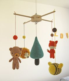 Woodland Mobile Forest Hanging Nursery Baby Mobile от cherrytime
