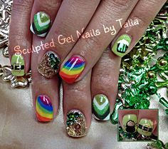 St.Patricks Day Nail art