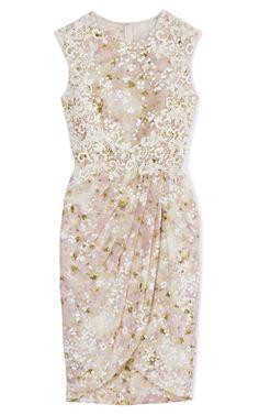 Ivory Draped Dress by Giambattista Valli Now Available on Moda Operandi