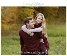 Leigh-Ann & Derek Outdoor Fall Engagement Session in Ottawa Ontario « Studio G.R. Martin Photography