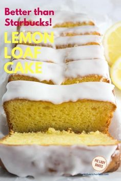 We can't get enough of this amazing lemon loaf cake that is a Starbucks copycat recipe, but so much better! And it's one of our special cake mix recipes. So easy! Cake Mix Recipes, Pound Cake Recipes, Dessert Recipes, Lemon Loaf Cake, Lemon Cake Mixes, Lemon Bread, Lemon Creme Cake, Lemon Recipes, Baking Recipes