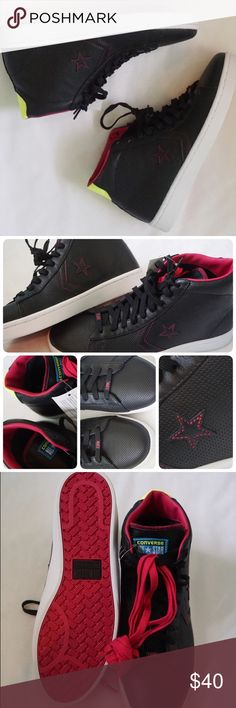 🆕LISTING CONVERSE LTHR PLUS SIZE 10MEN, 11.5WMN -BRAND NEW IN BOX NO LID -SIZE: 10MEN, 11.5WMN -COLOR: BLACK/PINK/YELLOW -2 COLORS SHOELACES -MADE IN VIETNAM -INCLUDE ORIGINAL BOX WHEN SHIP NO LID  ⚠️⚠️⚠️PLEASE UNDERSTAND SOMETIME THE BOX POSSIBLY DAMAGED. IF YOU CONCERNED ABOUT THE BOX PLEASE ASK FIRST BEFORE PURCHASE. PLEASE PAY ATTENTION TO DETAILED OF SHOES OF THE PIC. THANKS ⚠️⚠️⚠️⚠️⚠️       ⭐️TOP RATED SELLER 👍FAST SHIPPER NEXT DAY SHIPPING ❌NO TRADE ❌NO PAYPAL ✅BUNDLE OFFER Converse…