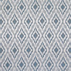 The G8537 Waterfall upholstery fabric by KOVI Fabrics features Diamond, Geometric, Ikat, Medallion pattern and Blue as its colors. It is a Embroidery type of upholstery fabric and it is made of 73% Polyester, 27% Cotton With 100% Rayon Embroidery material. It is rated Exceeds 6,000 double rubs (heavy duty) which makes this upholstery fabric ideal for residential, commercial and hospitality upholstery projects.Call 800-860-3105