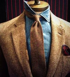 |Gentlemen's |Wear |Daily — Fall inspiration pt. 2 ×   Tweed & Denim ×   ph....