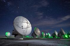 Picture of ALMA Array antenna - Antennas peer into the heavens.