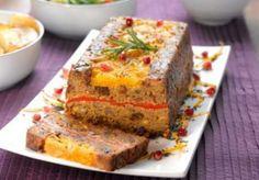 Terrina navideña vegetariana. #receta #vegetariana