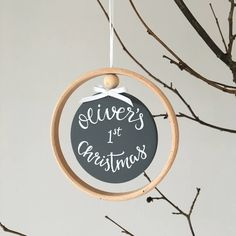 Are you interested in our Personalised Christmas bauble decoration ? With our first Christmas tree decoration keepsake you need look no further. Scandi Christmas, Christmas Baubles, Christmas Tree Decorations, Holiday Decor, Christmas Gift Guide, First Christmas, Christmas Gifts, Christmas Campaign, Wooden Hoop