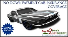Get Car Insurance Quotes with No Down Payment Online