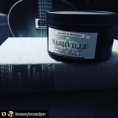 #Repost @brassybroadjen  So happy to find this combo in a candle @southernfireflycandle. #nashville #southernfirefly #southernfireflycandle #leatherandwhiskey #madeintennessee #southernmade http://ift.tt/1MhCWa8