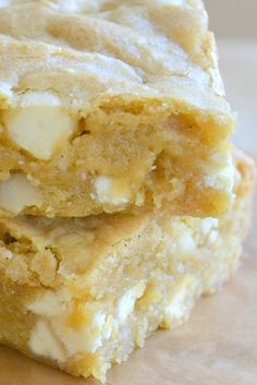 White Chocolate Macadamia Nut Blondies and a recipe for DIY Brown Sugar