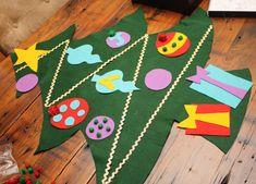Magnolia Creative Co.: [DIY Tutorial] Felt Christmas Tree for Kids...good tip for 'sticky' felt
