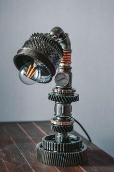 lamp table steampunk от loftapartment на Etsy
