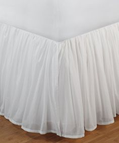 Greenland Home Fashions White Cotton Voile Bed Skirt | zulily