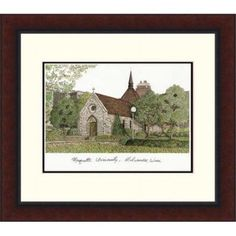 Campusimages WI999LR Marquette University Legacy Alumnus Framed Lithograph