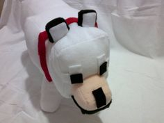 """Minecraft Wolf Plush (Tamed) (12.5"""" tall) - A Homemade Minecraft mob plush. $69.51, via Etsy. --> OMG YES"""