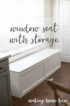 This tutorial for how to build a window seat is so easy! You can build a beautiful window seat in an afternoon to create tons of stylish storage for any space.