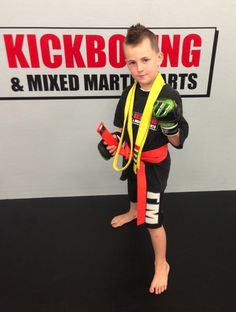 Corey is getting MMA lessons through a partnership of Angels of America's Fallen and OC Kickboxing. His father, Army PFC Michael Griffin, served with the 101st Airborne Division before falling victim to PTSD related suicide.