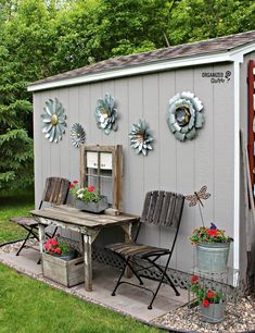 Shed DIY - Outdoor Junk Garden Shed Decor organizedclutter.net Now You Can Build ANY Shed In A Weekend Even If You've Zero Woodworking Experience!