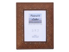 $54  A beautiful 5x7 steampunk leather picture frame that will compliment your special photo you're wanting to display! Great Christmas gift or birthday gift for anyone!