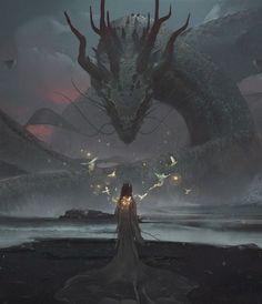 New concept art fantasy characters dragon Ideas Fantasy World, Dark Fantasy, Fantasy Queen, Medieval Fantasy, Dragons, Art Tumblr, Tumblr Me, Art Watch, Arte Horror