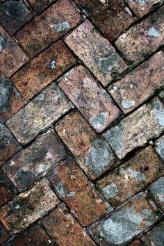 walkway of old brick paving