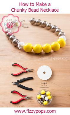 How to make a chunky Bead Necklace  cute cute cute!