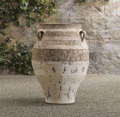 Handled Mediterranean Jar traditional outdoor decor