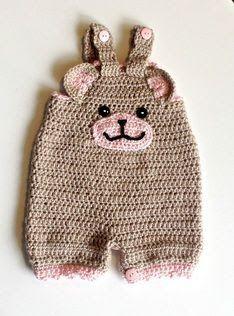 Croche Lilika: Jardineira em crochê para bebês de até 6 meses