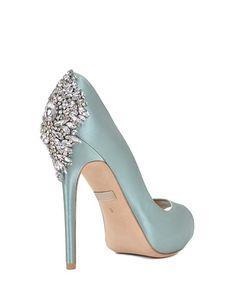 Kiara Embellished Peep-Toe Pump Evening Shoe by Badgley Mischka