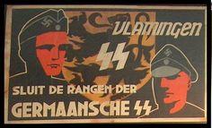 Algemene SS Vlaanderen - Flemish general SS Langemarck propaganda poster