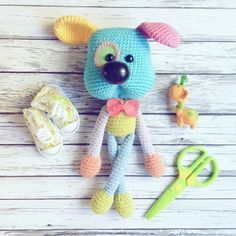 Crochet pattern Dog rattlle by magicfilament on Etsy